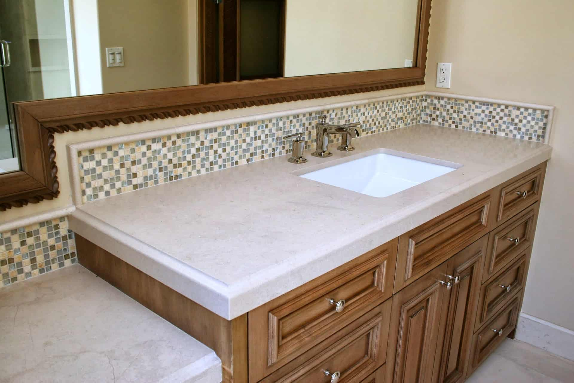 shower counter top santa rosa stone